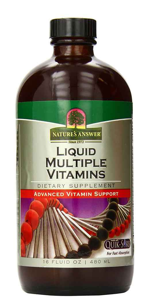 Natures Answer Liquid Multiple Vitamin - Total Health Support Supplement - 16 Oz