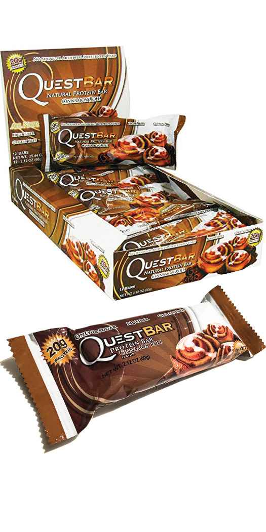 Quest Nutrition Quest Protein Bars - Cinnamon Roll - 12 Bars