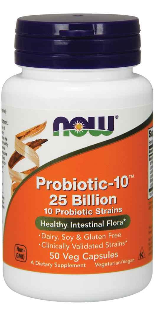 Now Foods Probiotic-10 25 Billion - 50 Vegetarian Capsules
