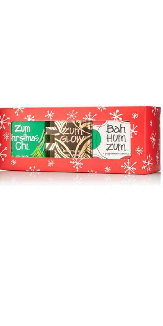 Indigo Wild Zum Glow Assorted Holiday - 3 Votive Gift Set