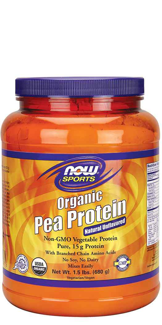 Now Foods Organic Pea Protein Powder - 1.5 Lbs