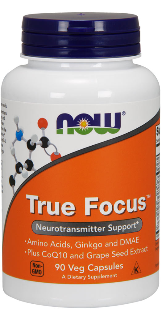 Now Foods True Focus Veg Capsules - 90 Ct