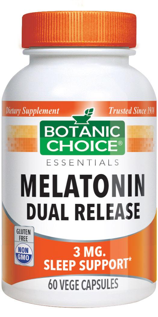 Botanic Choice Melatonin 3 mg Dual Release - 60 Vegetarian Capsules