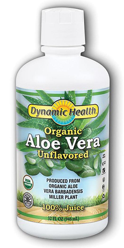 Dynamic Health Aloe Vera Juice Certified Organic Unflavored - 32 Oz