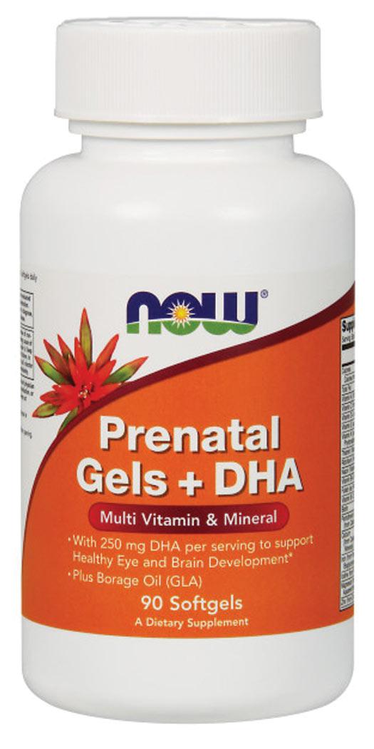 Now Foods Prenatal Gels + DHA - 90 Softgels
