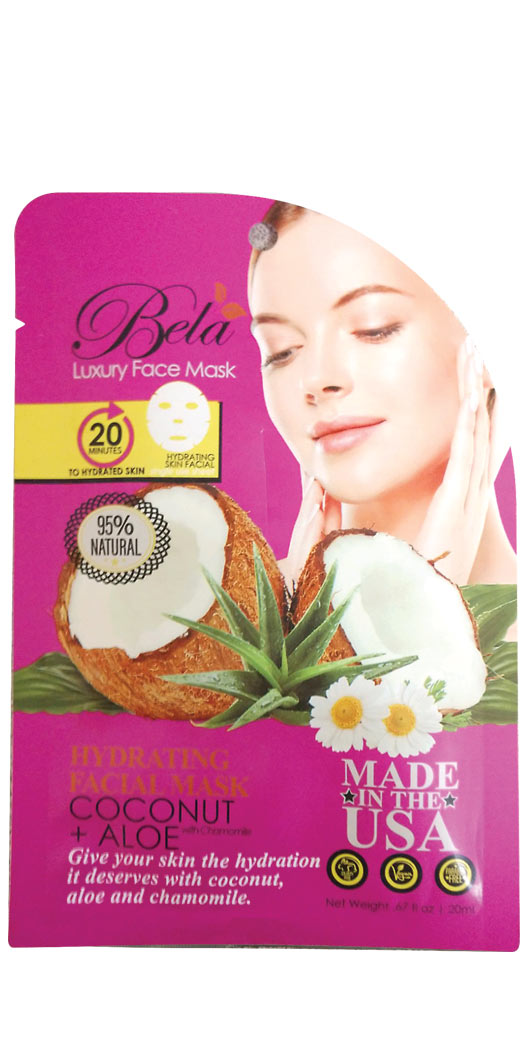 botanicchoice.com - Bela Luxury Face Mask Sheet Hydrating Formula – 1 Mask 2.99 USD