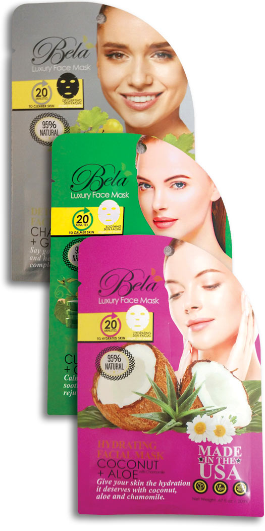 botanicchoice.com - Bela Luxury Face Mask Sheet Kit – 1 Kit 8.97 USD