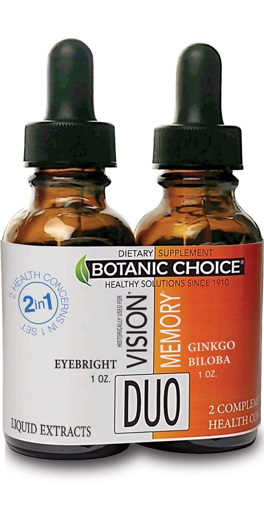 botanicchoice.com - Botanic Choice Vision & Memory Liquid Extracts Duo – 1 Month 25.00 USD