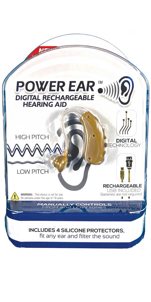 Power Ear Digital Rechargeable Hearing Aid - 1 Unit