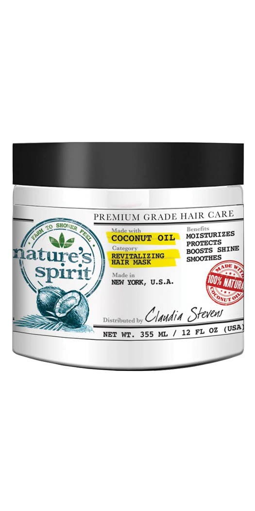 botanicchoice.com - Nature's Spirit Coconut Oil Revitalizing Hair Mask – Fl Oz 15.95 USD