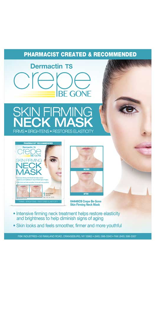Fisk Industries Crepe Be Gone Skin-Firming Neck Mask - 2Pc