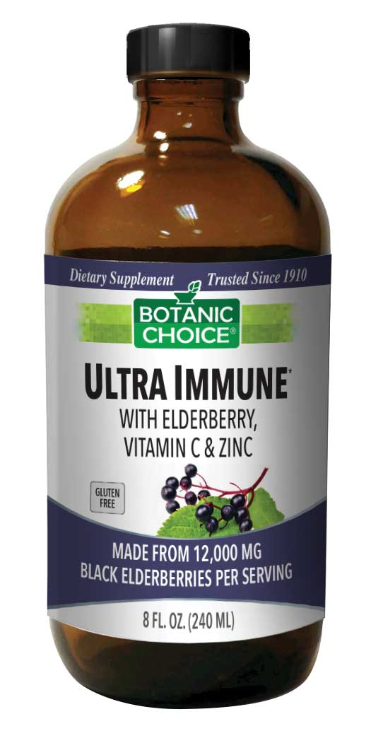 botanicchoice.com - Botanic Choice Ultra Immune with Elderberry, Vitamin C and Zinc – 8 Oz 34.00 USD