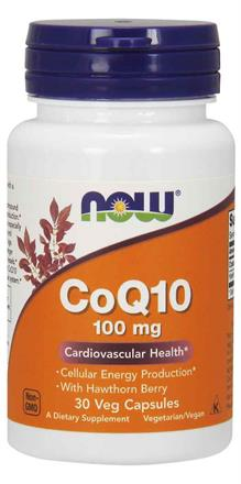NOW Foods<br>CoQ10 100 mg with Hawthorn Berry