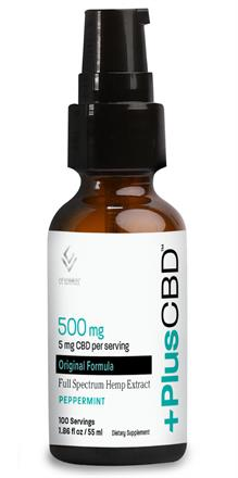 CV Sciences <br> PlusCBD Oil ™ Spray  - Peppermint (Extra Virgin Olive Oil) 500 mg