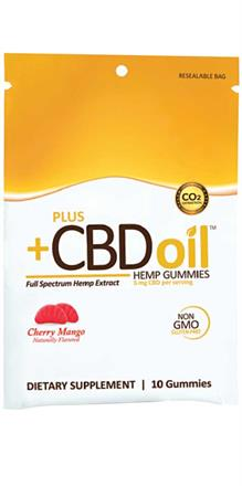 CV Sciences <br> PlusCBD Oil ™Gummies Cherry Mango 5 mg