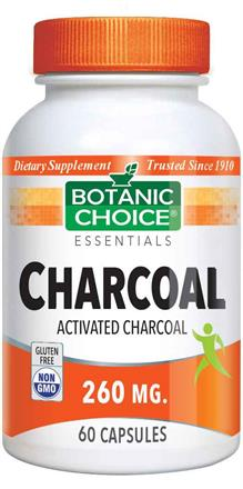 Activated Charcoal Capsules 260 mg.