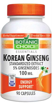 Korean (Asian) Ginseng 100 mg.