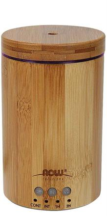 NOW Foods <br> Ultrasonic Real Bamboo Essential Oil Diffuser