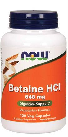 Now Foods <br> Betaine HCl 648 mg