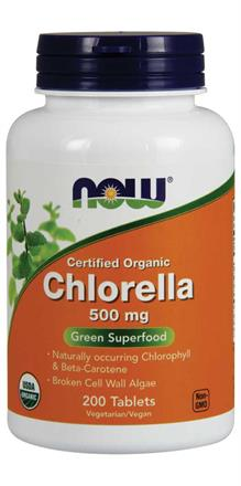 Now Foods <br> Organic Chlorella 500 mg