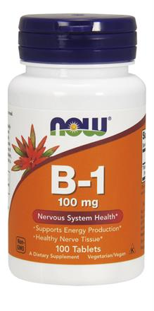 Now Foods <br> Vitamin B-1 100 mg Tablets
