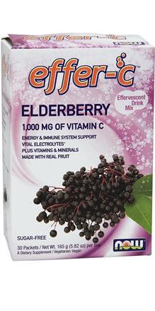 NOW Foods <br> Effer-C Elderberry