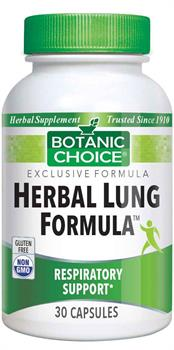 Herbal Lung Formula Helps Maintain Clear Bronchial Tubes