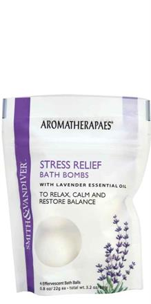 Smith & Vandiver - Aromatherapaes  <br> Stress Relief 4 pc Bath Bombs Pouch