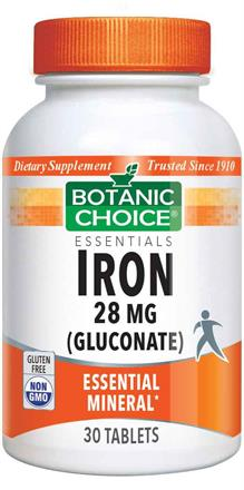 Iron 28 mg (gluconate)