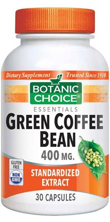 Green Coffee Bean Extract 400 mg.