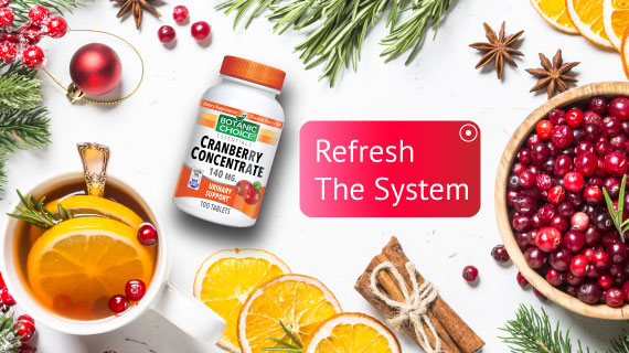 cranberry concentrate refresh the system