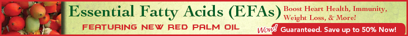 Essential Fatty Acids from plants and fish oil including Red Palm Oil as featured on TV