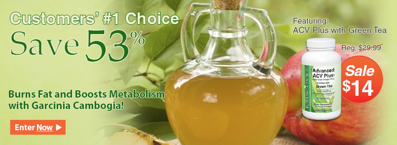 Shop For Our Advanced Apple Cider Vinegar Plus with Green Tea