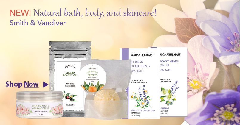 Natural bath, body, and skincare by Smith and VanDiver available at Botanic choice.