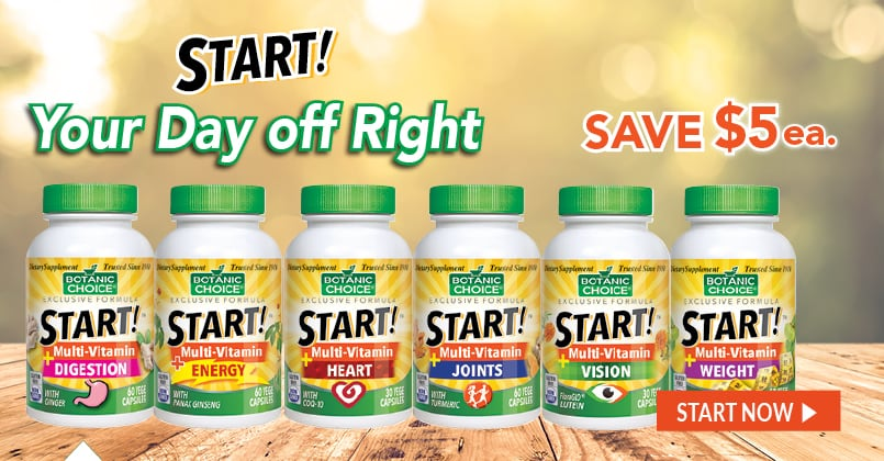 With a full complement of vitamins and minerals, our START!