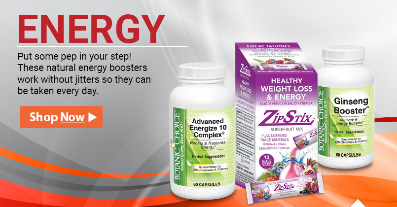 Put some pep in your step! These natural energy boosters work without jitters so they can be taken every day.