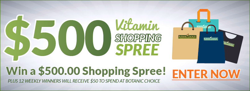 You could win a $500 Vitamin Shopping Spree!