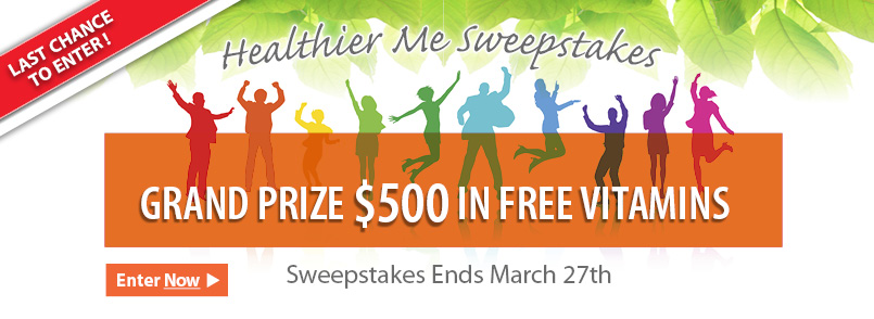 Enter our Healthier Me Sweepstakes before its too late