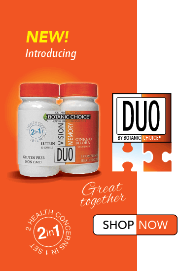 duo by botanic choice, great together. 2 Health concerns in 1 set. Tall version.