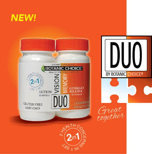 duo by botanic choice, great together. 2 Health concerns in 1 set.