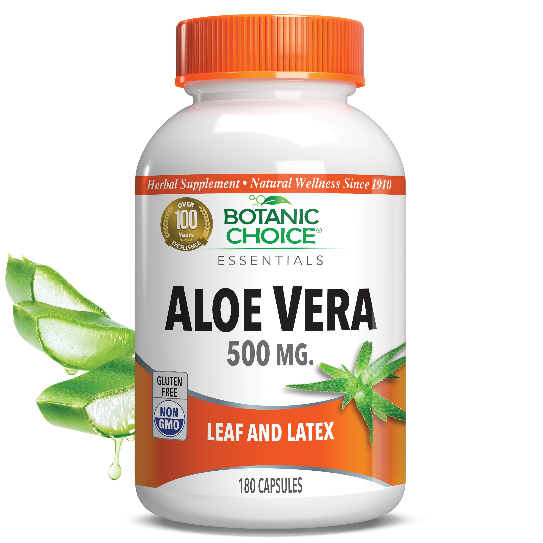 Botanic Choice Aloe Vera Supplement 500 mg - 180 Capsules