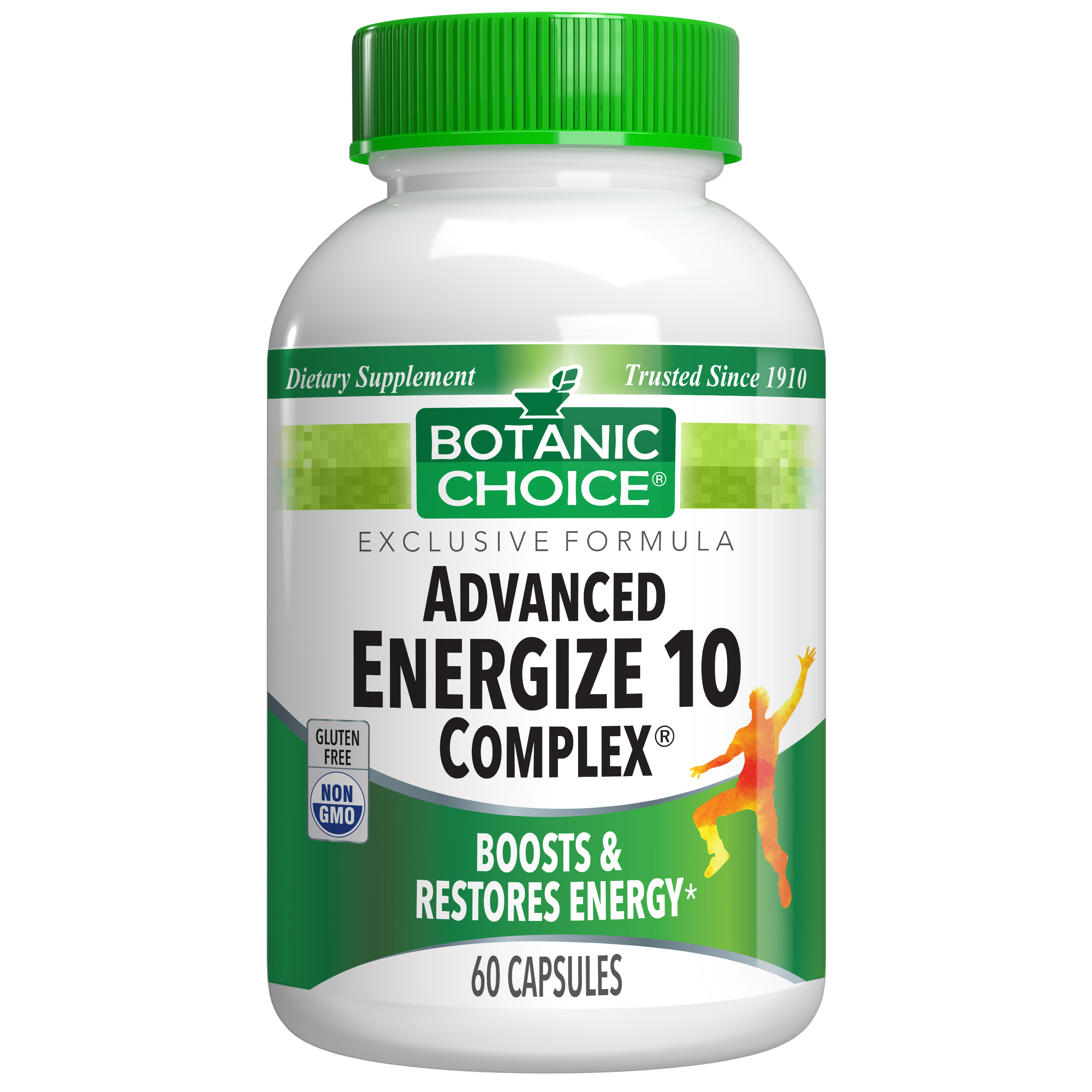 Botanic Choice Advanced Energize 10 Complex® - Energy Support Supplement - 60 Capsules