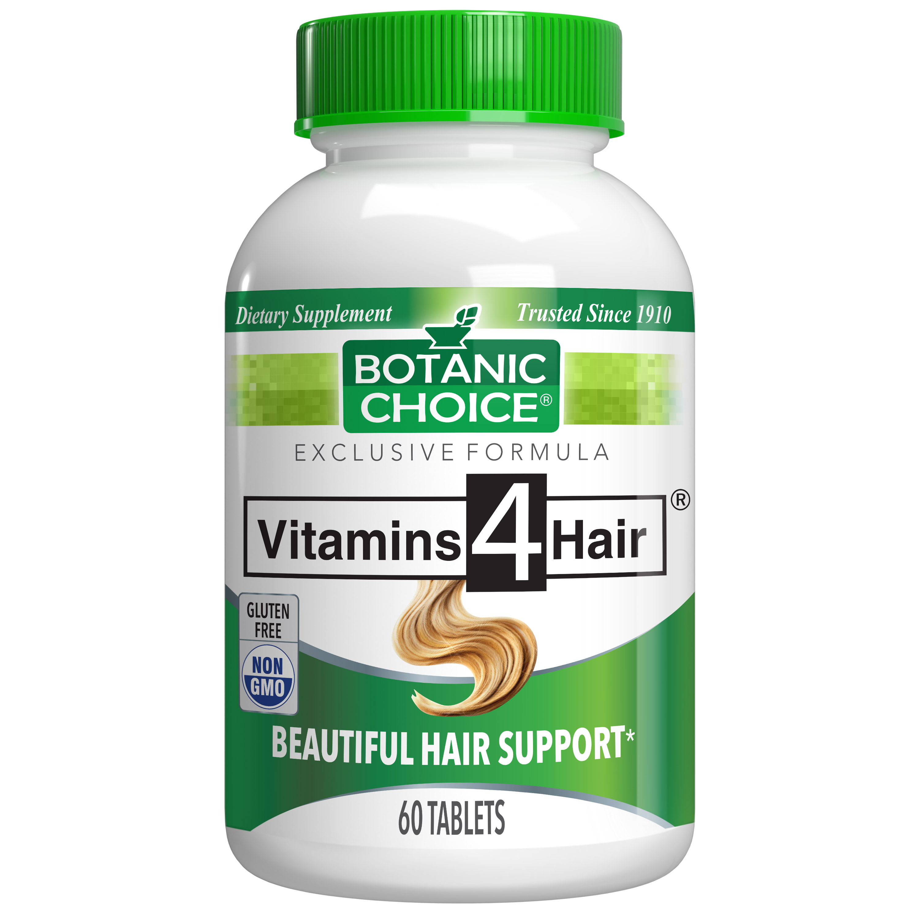Botanic Choice Vitamins 4 Hair® - Youthful Hair Support Supplement - 60 Tablets